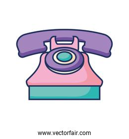 phone retro device with color pastel