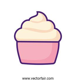 delicious cupcake isolated icon vector ilustration
