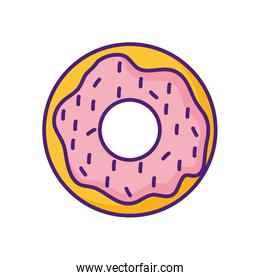sweet donuts isolated icon vector ilustration