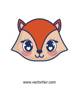 cute chipmunk adorable character