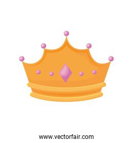 monarchical crown with gemstones