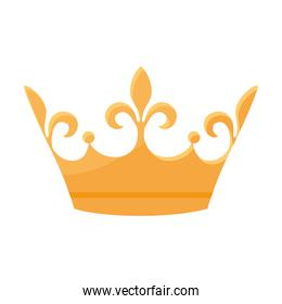 monarchical crown isolated icon