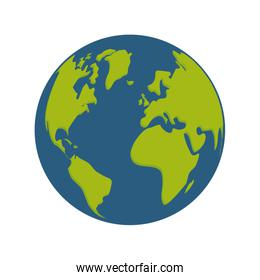world planet earth space icon