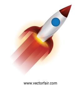 space rocket flying icon