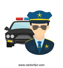 police agent with patrol avatar character