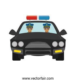 police agents in patrol