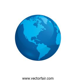 world planet earth space icon vector illustration