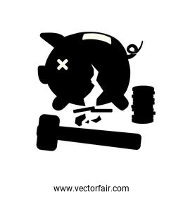 piggy savings isolated icons vector illustration