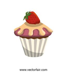 delicious cupcake sweet icon