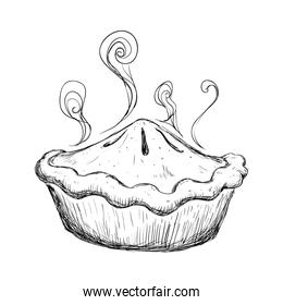 delicious sweet pie drawing
