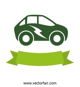 ecology electric car icon