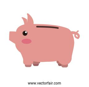 piggy savings isolated icons