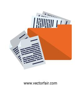 folder with documents data