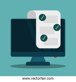 checklist document with supply vector illustration