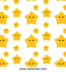 star with face emoji pattern