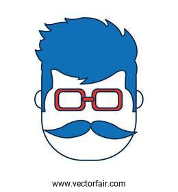 man wearing glasses icon