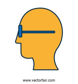 man head with glasses icon
