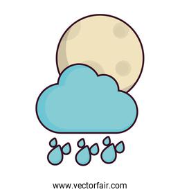 moon and cloud icon