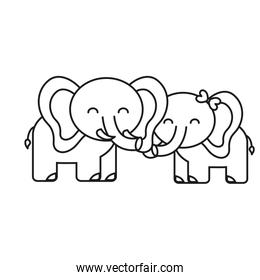 cute elephant icon