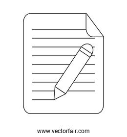 paper page and pencil icon