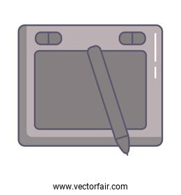 designer tablet with pencil electronic