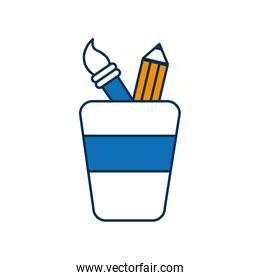 cup with drawing utensils icon