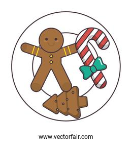 plate with christmas cookies icon