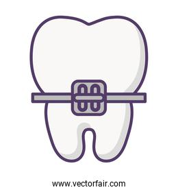 tooth with bracket icon