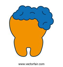 tooth with foam icon