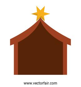 nativity tent icon