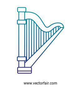 harp musical instrument linear icon