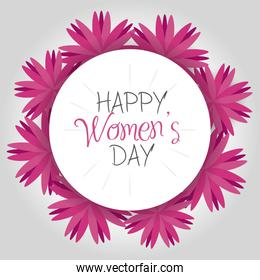 women day greeting cards icon
