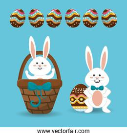 happy easter day icon