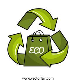 planet recycling icon stock