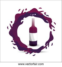 bottle with bubble of wine icon