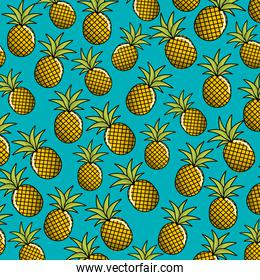 natural pineapple fruit background icon