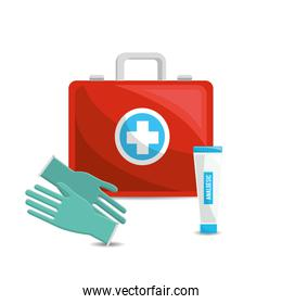 color healthcare, hospital gloves and toothpaste