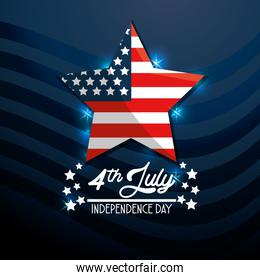 star USA flag independence day