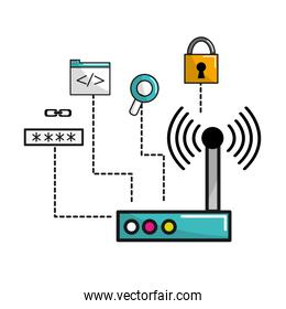 wifi router connection data information