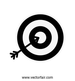 silhouette icon arrow hitting a target