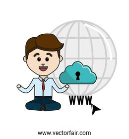 man with cloud data security service