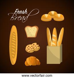 delicious fresh differents types of breads
