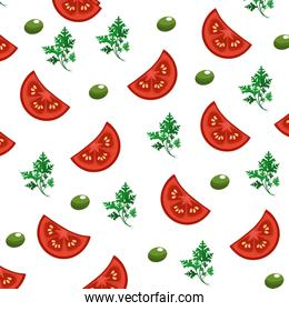 delicious healthy fresh vegetable background
