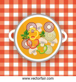 delicious healthy fresh vegetable soup
