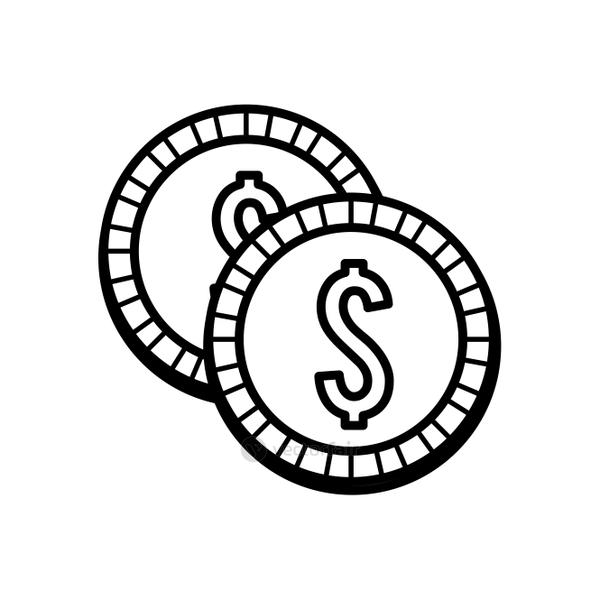 silhouette coins money save