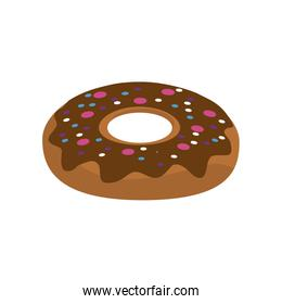 delicious sweet donut bakery snack isolated icon