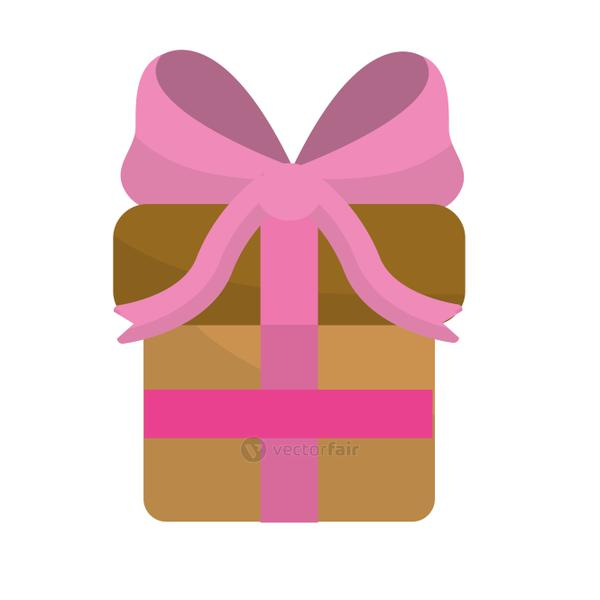 gift present with ribbon decoration to celebrate party