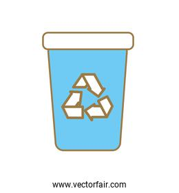 recycle can trash to care environment