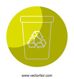 sticker recycle can trash to care environment