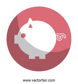 sticker nice pig to save coin currency